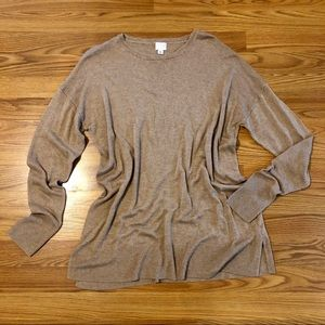 A New Day Soft Camel Drop Sleeve Sweater